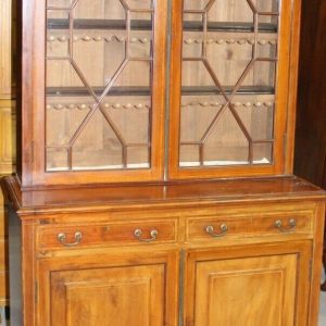 1910s Edwardian Quality Mahogany Chiffoniere Bookcase with Inlay Antique Bookcases