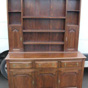 1920's Large Oak Dresser with display rack Antique Dressers