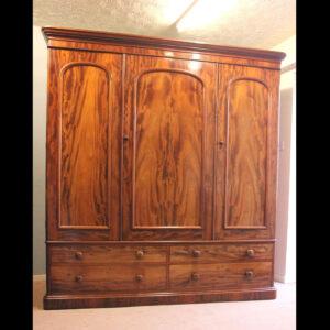 Antique Victorian Mahogany Triple Door Wardrobe Antique Antique Wardrobes