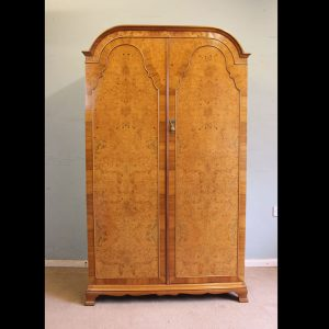 Antique Quality Burr Walnut Double Wardrobe burr walnut Antique Wardrobes