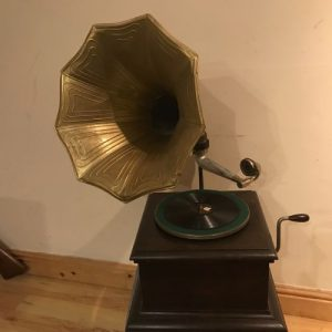 SOLD Vintage His Masters Voice Horned Gramophone Antique Antique Musical Instruments