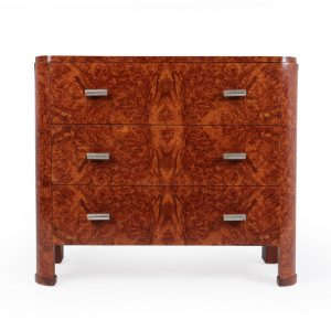 Art Deco Chest of Drawers in Amboyna c1920 Antique Chest Of Drawers