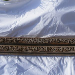 SOLD: Stunning Pair Carved Wood Calligraphic Beams 500 years old Egypt Mamluk period Egyptian Architectural Antiques
