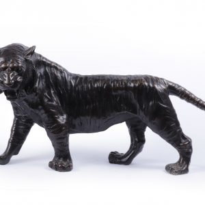 Bronze Tiger Sculpture c1950 Antique Sculptures