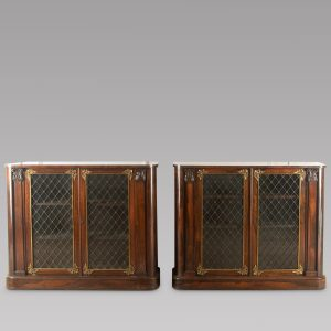 Pair of Early 19thc Rosewood Chiffoniers Antique Cupboards