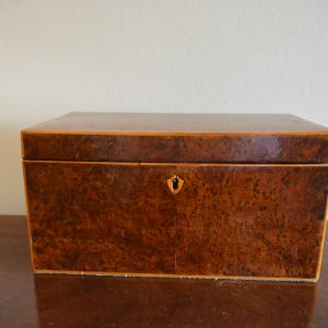 Regency Tea Caddy amboyna Antique Boxes