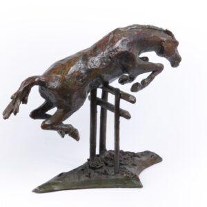 Bronze Study of a Horse Jumping c1950 Antique Sculptures
