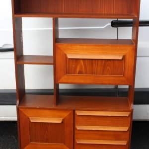 1960's Teak Room Divider with Shelves and Cupboard Antique Antique Bookcases