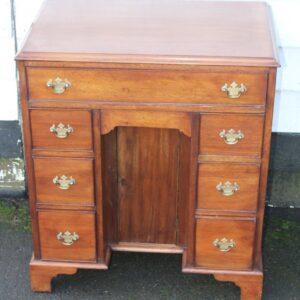 1920's Small Mahogany Knee Hole Desk Antique Antique Desks