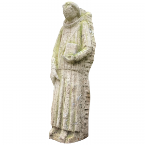 Medieval Carved Stone Garden Sculpture Religious Monk Bible architectural Medieval Antiques 3