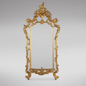 Louis XV Style 19thc Giltwood Wall Mirror Antique Antique Mirrors