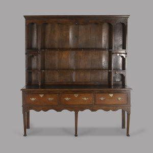 18th Century Two Part Oak Dresser Antique Dressers