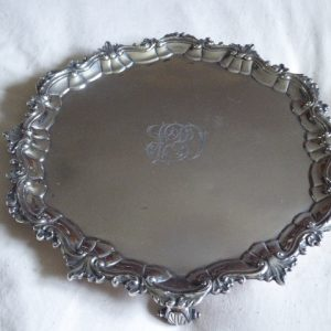 George II silver salver – 1742 – Thomas Whipham of London salver Antique Silver