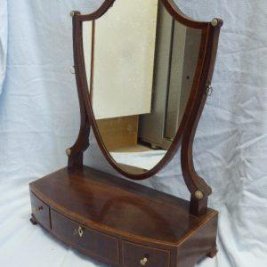 Mahogany shield shaped toilet mirror circa 1810 Georgian Antique Mirrors