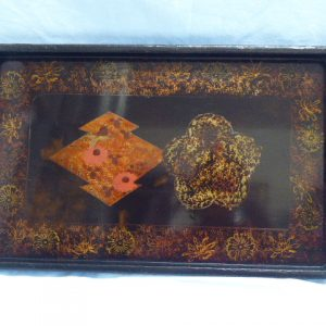 Japanese lacquered tray – early 20th century tray Antique Trays