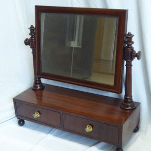 Mahogany dressing table / toilet mirror circa 1830 Mahogany Antique Mirrors