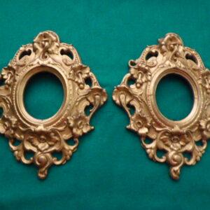 Pair of Georgian gesso portrait frames Georgian Antique Mirrors