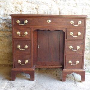 Georgian mahogany knee hole desk circa 1800 desk Antique Desks