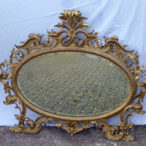 Gilded gesso mirror circa 1860 gesso Antique Mirrors