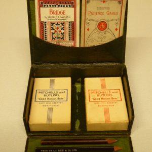 Edwardian bridge card box bridge cards Antique Toys