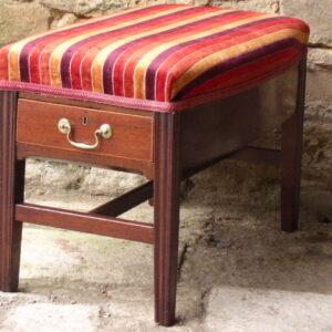 Georgian mahogany piano stool circa 1790 Georgian Antique Stools