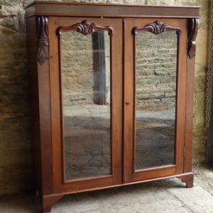 Victorian glass fronted walnut bookcase circa 1880 bookcase Antique Bookcases