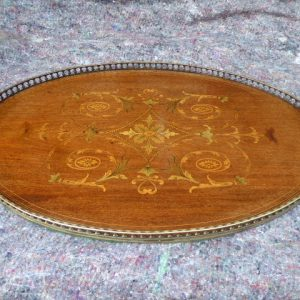 Marquetry serving tray circa 1900 marquetry Antique Trays