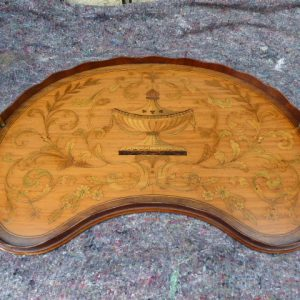 Rare satinwood marquetry tray – Edwards and Roberts edwards and roberts Antique Trays