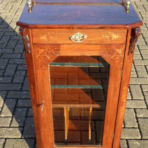 Walnut inlaid music cabinet circa 1890 marquetry Antique Cabinets