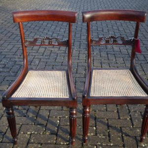 Pair of rosewood chairs circa 1830 with caned seats chairs Antique Chairs