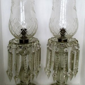 Pair Clear Candle Lustres