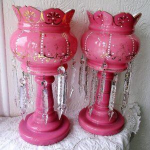 Pair of Pink Lustres