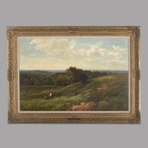 Edmund Morison Wimperis (1835-1900) – Sussex Downs 1885 Antique Art
