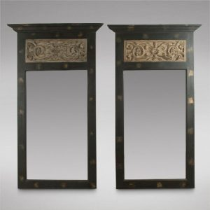 A Pair Of Highly Decorative Pier Mirrors Antique Antique Mirrors