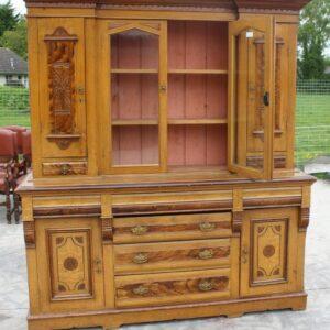 1900's Large Antique Pine Dresser with Original Scrumble Finish Antique Antique Dressers