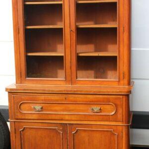 1890 Mahogany Secretaire Bookcase Antique Antique Bookcases