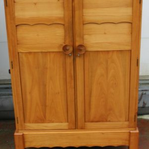 1940s Well Fitted Cherry Wood Cabinet with Slides Antique Antique Cabinets