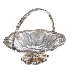 Antique Silver Plated Cake Basket antique cake basket Antique Silver