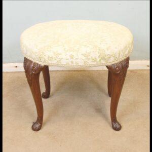 Antique Walnut Dressing Table Stool.