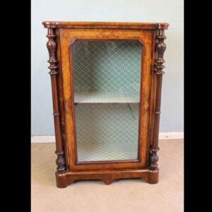 Antique Victorian Burr Walnut Display Cabinet