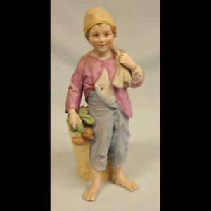 Antique Bisque Figurine of Young Boy