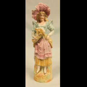 Antique Bisque Figurine of Young Lady