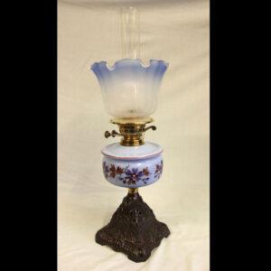 Antique Cottage Oil Lamp