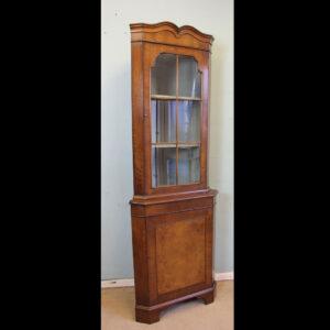 Queen Anne Style Walnut Corner Cabinet,