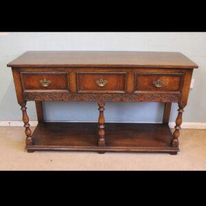 Antique Oak Sideboard Dresser Base