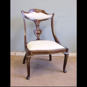 Antique Inlaid Mahogany Occasional Chair