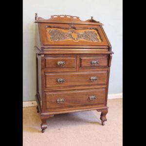 Antique Mahogany Small Bureau Writing Desk