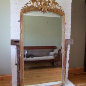 French gilt overmantel mirror mirror Antique Mirrors