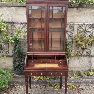 Mahogany tambour top bookcase bureau circa 1820 bookcase bureau Antique Bookcases