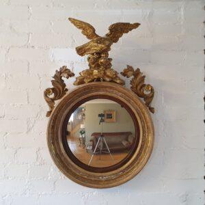 Regency convex mirror Antique Mirrors
